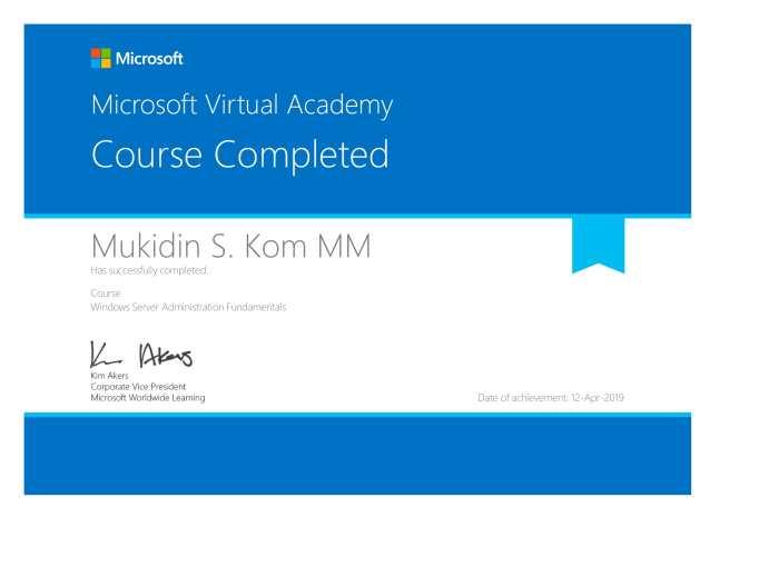 Certificate Windows Server Adminsitrator-1